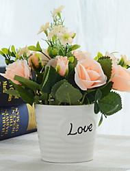 baratos -Flores artificiais 1 Ramo Clássico Moderno / Contemporâneo / Estilo simples Rosas Flor de Mesa