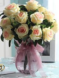 baratos -Flores artificiais 1 Ramo Solteiro (L150 cm x C200 cm) Estilo simples Rosas Flor de Mesa