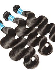 Недорогие -3 Связки Бразильские волосы Вьетнамские волосы Естественные кудри 10A Не подвергавшиеся окрашиванию Человека ткет Волосы 8-28 дюймовый Нейтральный Ткет человеческих волос Машинное плетение