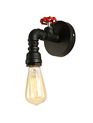 Недорогие -чердак мини ретро промышленный стиль стены браун ресторан и бар металлический водопровод настенный светильник окрашенный отделкой