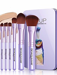 cheap -7 pcs Makeup Brushes Professional Make Up Fiber Full Coverage Plastic