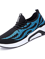 baratos -Homens sapatos Lona / Couro Ecológico Outono Solados com Luzes Tênis Caminhada Branco / Preto / Black / azul