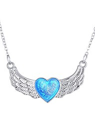 cheap -Women's Luminous Stone Long Pendant Necklace - Heart Fashion Blue 50 cm Necklace 1pc For Halloween, Club