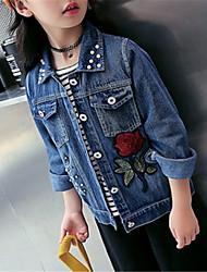 preiswerte -Kinder Mädchen Solide Langarm Jacke & Mantel