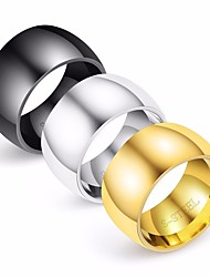 Недорогие -Муж. Кольцо 1шт Золотой Черный Серебряный Титановая сталь Круглый Геометрической формы Стиль Простой Классика Свадьба Повседневные Бижутерия Классический Креатив Cool