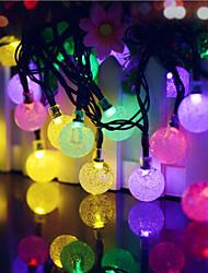 Недорогие -40led синий солнечный светодиодный свет фея строка рождественская вечеринка