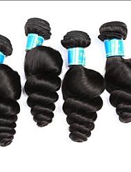 baratos -4 pacotes Cabelo Brasileiro / Cabelo Peruviano Ondulação Larga Cabelo Virgem Cabelo Humano Ondulado 8-30 polegada Tramas de cabelo humano Fabrico à Máquina Melhor qualidade / 100% Virgem Natural