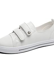 Недорогие -Жен. Обувь Искусственная кожа Весна Удобная обувь Кеды На плоской подошве Круглый носок Белый / Черный