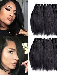 abordables -Cheveux Rémy tissage de cheveux Meilleure qualité / Nouvelle arrivee / Pour Cheveux Africains Cheveux Malaisiens Mid Length 300 g Plus d'Un An Scène / Carnaval / Fête de Mariage