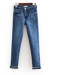 cheap -Women's Slim Jeans Pants - Solid Colored / Work