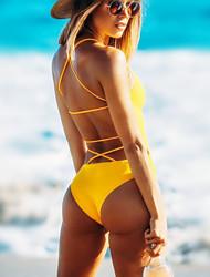 cheap -Women's One Piece Swimsuit Fast Dry, Anatomic Design, Stretchy Nylon Sleeveless Swimwear Beach Wear Bodysuit Solid Colored Swimming