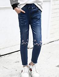 preiswerte -Kinder Mädchen Grundlegend Solide Baumwolle Jeans
