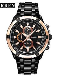 Недорогие -CURREN Нарядные часы Наручные часы излучатели Защита от влаги, Новый дизайн, ЖК экран Черный и золотой / Красный / Золото / Белый