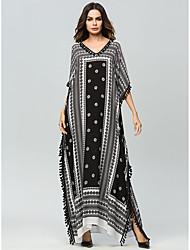 preiswerte -Damen Grundlegend Fledermaus Ärmel Abaya Kleid - Druck, Geometrisch Maxi