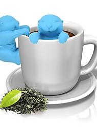 Недорогие -животный выттер силиконовый инфузерный чай сетчатый фильтр для травы кофе чай инструменты