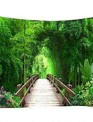 Недорогие -Пейзаж / Бамбук Декор стены 100% полиэстер Классика Предметы искусства, Стена Гобелены Украшение