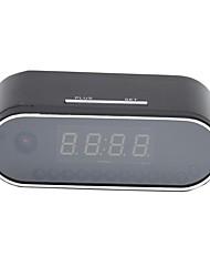 Недорогие -hqcam h.264 wifi настольные часы мини-камера 720p hd p2p dvr видеокамера сигнализация набор ночного видения дистанционный монитор микро 32g карта 2200ma батареи 1/4 дюймовый CMOS моделирование камеры