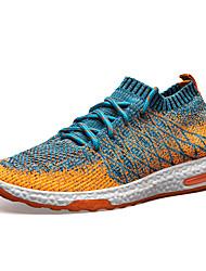 abordables -Hombre Zapatillas de Running Goma Ejercicio y Fitness / Paseo / Correr Ligero, Entrenador, Transpirable Malla Negro / Naranja / Gris
