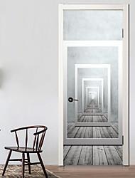 Недорогие -Дверные наклейки - 3D наклейки Абстракция / Геометрия Гостиная / Спальня
