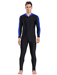 cheap -SBART Men's Rash Guard Dive Skin Suit Quick Dry, Limits Bacteria, Comfortable Nylon Full Body Swimwear Beach Wear Solid Colored Front Zip Watersports / High Elasticity