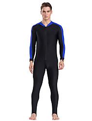 baratos -SBART Homens Segunda-pele para Mergulho Secagem Rápida, Antibacteriano, Confortável Fibra Sintética Corpo Inteiro Roupa de Banho Roupa de Praia Sólido Zíper Frontal Esportes Aquáticos