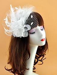 お買い得  -羽毛 / ネット フェザー / フラワー  -  魅力的な人 / 帽子 / ヘッドドレス 1個 結婚式 / パーティー かぶと