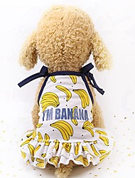 cheap -Dogs / Cats / Furry Small Pets Hoodie / Holiday Decorations / Shirt Dog Clothes Fruit Gold / Yellow / Pink Mesh Costume For Pets Female Sports & Outdoors / Casual / Sporty