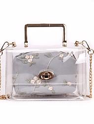 baratos -Mulheres Bolsas PVC Conjuntos de saco 2 Pcs Purse Set Botões Branco / Cinzento