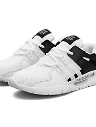 Hombre Zapatos PU / Tela Elástica Verano Confort Zapatillas de Atletismo Blanco / Negro / Gris Bl3lbb3DEz