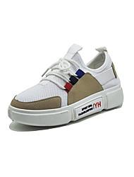 Недорогие -Жен. Обувь Сетка / Полиуретан Осень Удобная обувь Кеды На плоской подошве Круглый носок Белый / Черный / Серый