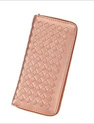 Недорогие -Жен. Мешки PU Бумажники Молнии Розовый / Пурпурный / Черно-белый