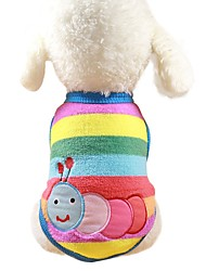 cheap -Dogs / Rabbits / Cats Sweatshirt / Jumpsuit Dog Clothes Animal / Cartoon / Character Light Blue / Rainbow / Stripe 100% Coral Fleece Costume For Pets Female Sports & Outdoors / Casual / Sporty