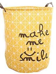 cheap -Fabrics Round Geometric Pattern / Cool Home Organization, 1pc Storage Baskets
