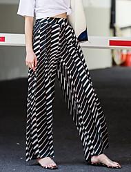 cheap -Women's Street chic Wide Leg Pants - Geometric
