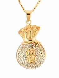 cheap -Men's Cubic Zirconia Stylish / Cuban Link Pendant Necklace / Chain Necklace - Stainless Precious, Dollars Unique Design, European, Hip-Hop Gold 60 cm Necklace 1pc For Gift, Street