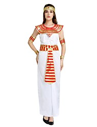 cheap -Egyptian Costume Costume Women's Halloween Carnival Masquerade Festival / Holiday Halloween Costumes Outfits White Solid Colored Striped Halloween Halloween