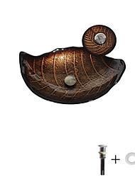 abordables -Lavabo de Baño / Grifería de Baño / Anillo de Montura de Baño Clásico - Vidrio Templado Rectangular