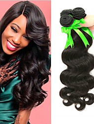 cheap -3 Bundles Malaysian Hair Wavy Human Hair Natural Color Hair Weaves / Costume Accessories / Hair Accessory 8-28 inch Human Hair Weaves Machine Made Best Quality / Hot Sale / Comfortable Natural Color