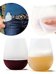 Недорогие -Drinkware Полный силикон для тела Каждодневные чашки / стаканы / Необычные чашки / стаканы / Чайные чашки Компактность / Сжимая / Boyfriend Подарок 1 pcs