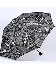 abordables -Poliéster / Acero Inoxidable Hombre Soleado y lluvioso Paraguas de Doblar