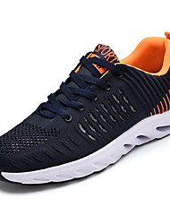 cheap -Men's Knit / Elastic Fabric Summer Comfort Athletic Shoes Running Shoes Color Block Black / Dark Blue / Black / Red