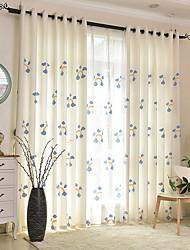 preiswerte -Kindervorhänge Kinderzimmer Blumen Baumwolle / Polyester Stickerei