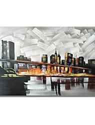 Недорогие -Hang-роспись маслом Ручная роспись - Пейзаж Современный / Modern холст