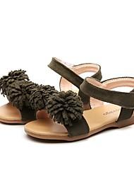 abordables -Fille Chaussures Microfibre Eté Premières Chaussures Sandales Fleur / Scotch Magique pour Bébé Vert Véronèse / Rose / Brun claire / Soirée & Evénement