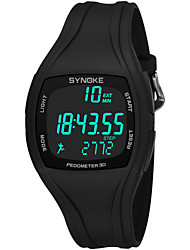 cheap -SYNOKE Men's Sport Watch / Digital Watch Calendar / date / day / Chronograph / Water Resistant / Water Proof PU Band Fashion Black / White / Grey / Stopwatch / Noctilucent