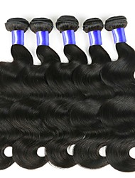 cheap -Peruvian Hair Wavy Natural Color Hair Weaves / One Pack Solution / Human Hair Extensions 6 Bundles 8-28 inch Human Hair Weaves Soft / New Arrival / Hot Sale Natural Black Human Hair Extensions Women's