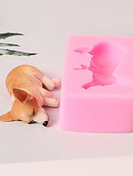 Недорогие -Инструменты для выпечки Силикон 3D в мультяшном стиле / Милый / Креатив Торты / Для приготовления пищи Посуда / Для торта Квадратный Формы для пирожных 1шт