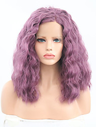 cheap -Synthetic Lace Front Wig Curly Bob Haircut Synthetic Hair Adjustable / Heat Resistant Purple Wig Women's Short Lace Front Wig