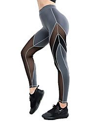 economico -Per donna Pantaloni da yoga Gli sport Calze / Collant / Cosciali Corsa, Fitness, Palestra Abbigliamento sportivo Asciugatura rapida, Traspirabilità, Comodo Media elasticità