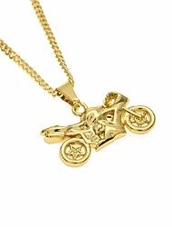 cheap -Men's Stylish / Long Pendant Necklace - Moto Trendy, Casual / Sporty, Fashion Gold 60 cm Necklace 1pc For Street, Going out